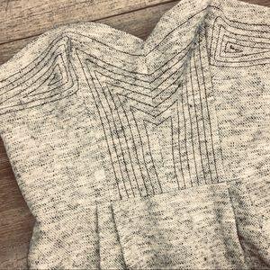Rebecca Minkoff strapless sexy dress wool blend 6